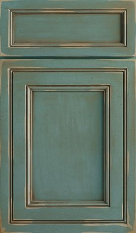 Braydon Manor Door Style | Decorá in Turquoise Rust.   Love the finish and color.  Not as crazy about the door style, but love the finish.