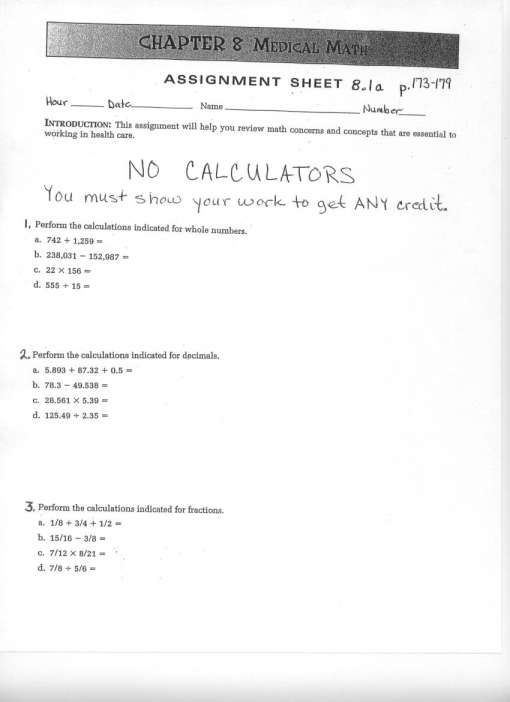 11 Chapter 13 Medical Math Worksheet Answers Medical Math Math Worksheet Math