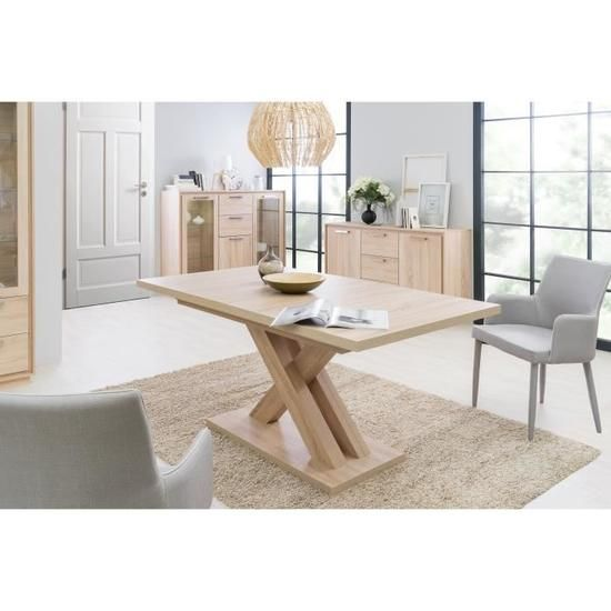 Loft Ensemble Table A Manger Buffet Contemporain Decor Bois