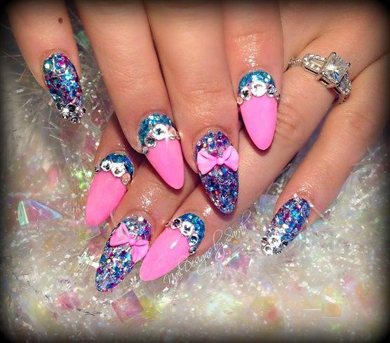 party nails by Sarahp898 - Nail Art Gallery http://nailartgallery.na... by Nails Magazine http://www.nailsmag.com #nailart