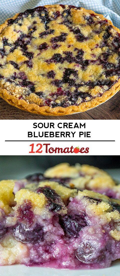 Sour Cream Blueberry Pie Recipe Sour Cream Recipes Blueberry Pie Recipes Blueberry Recipes
