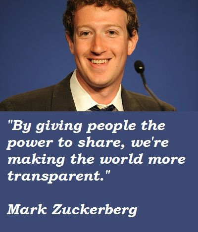 Top Inspirational Quotes by Facebook Owner Mark