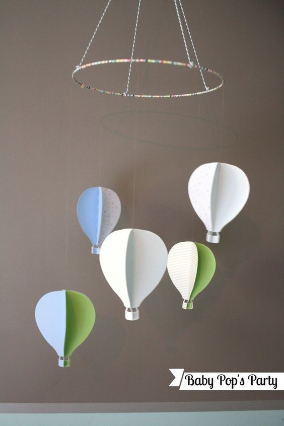 Diy mobile montgolfi re diy sur mesure pinterest mobiles et brico - Mobile pour bebe a faire soi meme ...