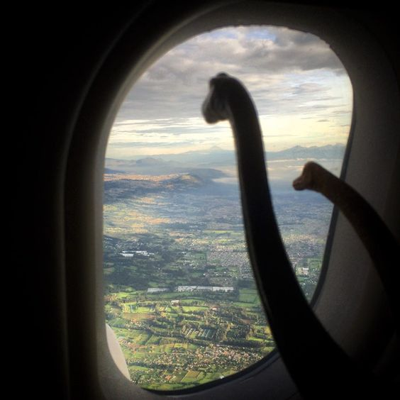 Travel photos are instantly better with Dinosaur toys - Album on Imgur
