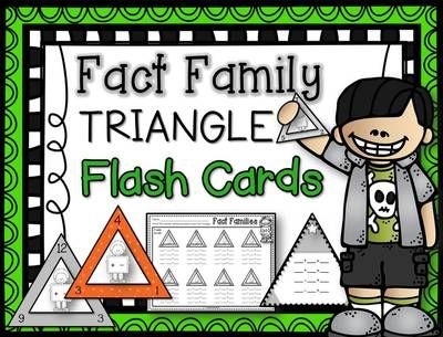 Addition And Subtraction Fact Family Flash Cards - mastering math ...