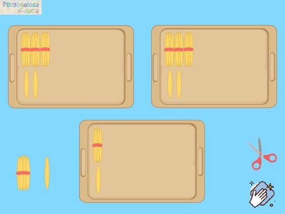 Bandejas con palillos interactivos