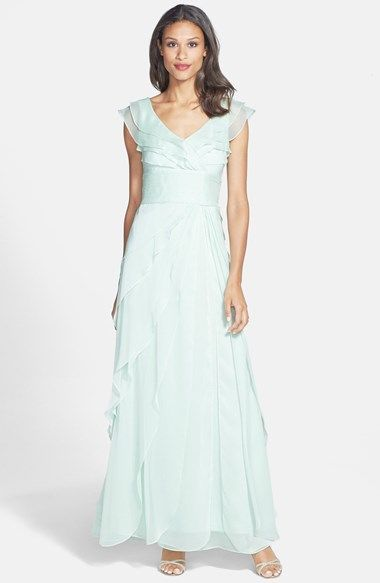 Mother Of Bride Dresses For Destination Weddings : Chiffon gown adrianna papell and on