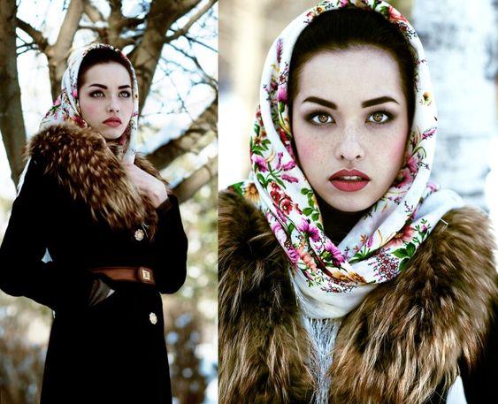 Mode lädt russische Schönheiten aus