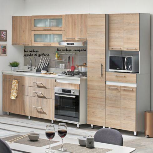 Como Diseñar Una Cocina Integral Pequeña Cocina Integral Gibraltar 2 10 Metros 10 Puertas 3 Cajones Rovere