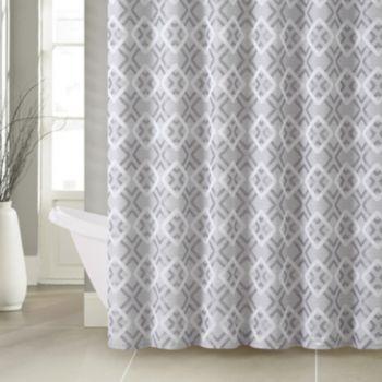 Victoria Classics Lucas Jacquard Shower Curtain & 12-piece Hook Set