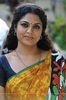 mallu aunty actress asha sarath hot in saree indian