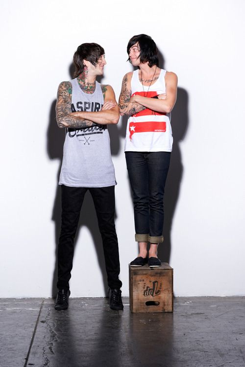 Austin Carlile/Of Mice & Men/Founder of Aspire And Create -- Kellin Quinn/Sleeping With Sirens/Founder of Anthem Made