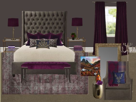 royal purple bedroom ideas royal purple scottish inspired bedroom classic modern 17009