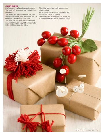From the beautiful sweet paul magazine, simple wrapping inspirations!!