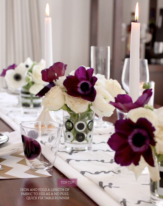 A table for two: Purple Flowers, Table Setting, Fall Flower, Pretty Flower, Tablescape