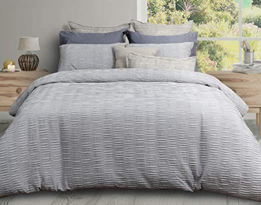Qe Home Wave Duvet Cover Super King Grey Luxury Sheet Sets Luxury Sheets Duvet Covers