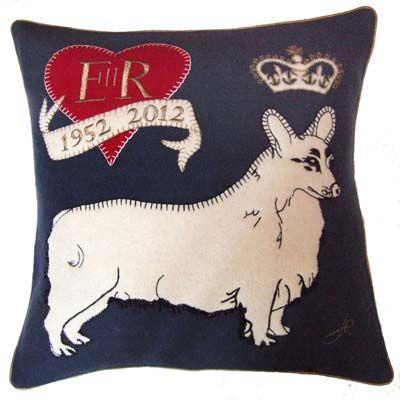 Jubilee corgi cushion