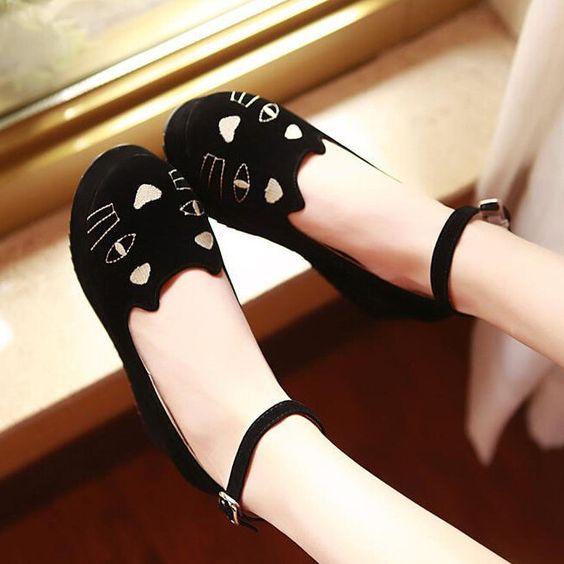 Kawaii cats shoes platform shoes