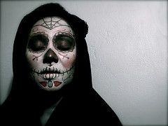 dia de los muertos face painting tutes