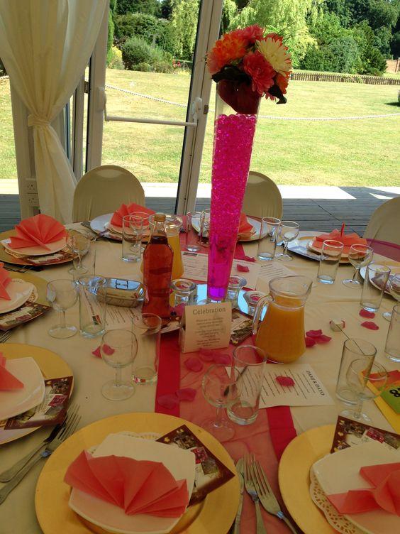 Conical vase centrepiece. www.eventsbylvlv.co.uk