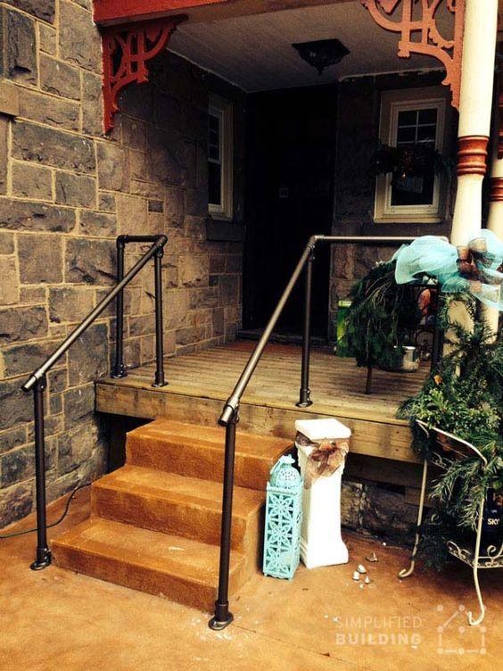 Best Front Steps Deck Railing Pipe Railing Pinterest Deck 400 x 300