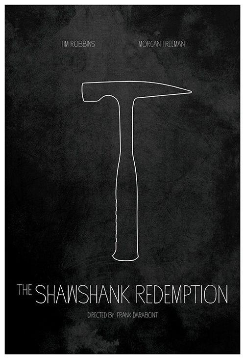 The Shawshank Redemption (1994) ~ Minimal Movie Poster by Calm the Ham #amusementphile