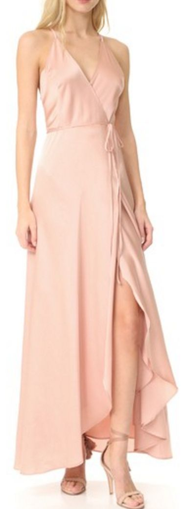 Graceful blush pink wrap dress
