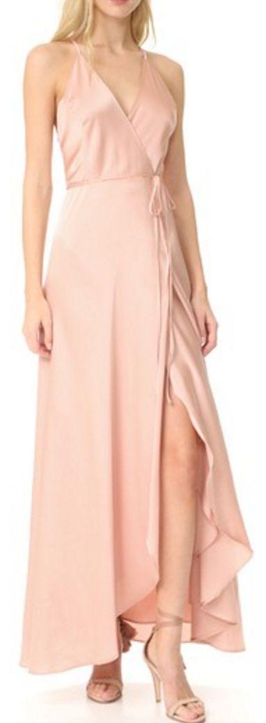 Graceful blush pink wrap dress