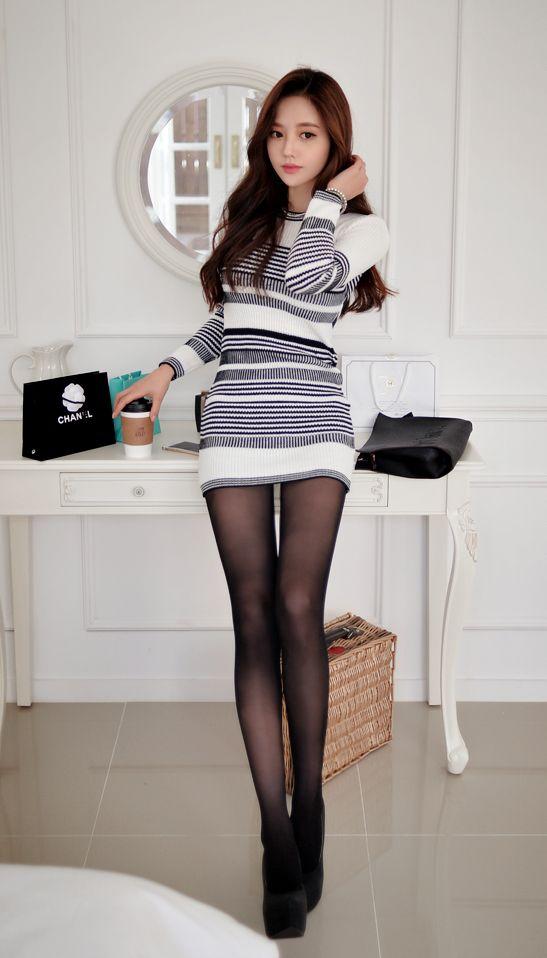 Korean girl pantyhose