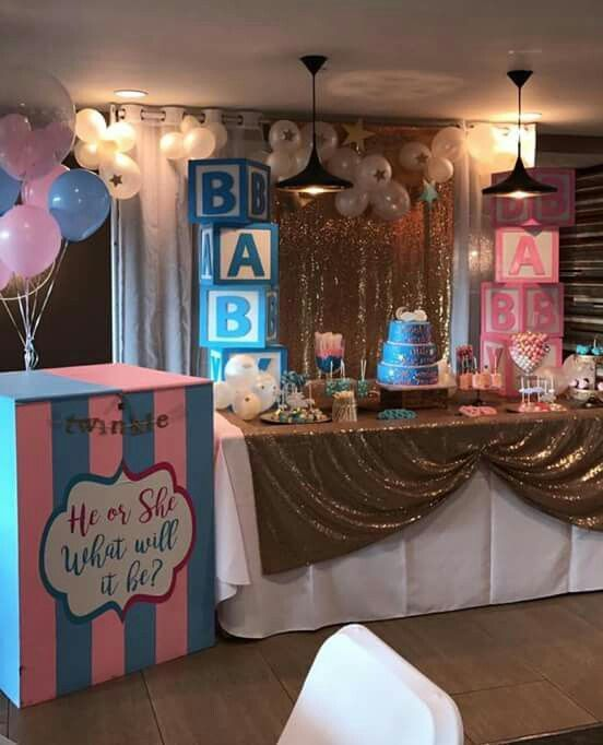 Gender Reveal Party Decor Inspiration Genderrevealparty Genderreveal Genderrevealideas P Simple Gender Reveal Gender Reveal Party Gender Reveal Decorations