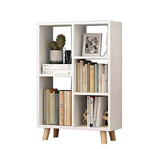 Zhirong Multi Layer Bookshelf Bookcase Storage Shelf Display Stand Living Room Bedroom Furniture Simple Bookshelf Wood Bookshelves Solid Wood Storage