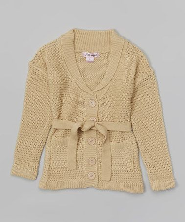 Look what I found on #zulily! Toasty Beige Circle-Knit Duster - Toddler & Girls #zulilyfinds