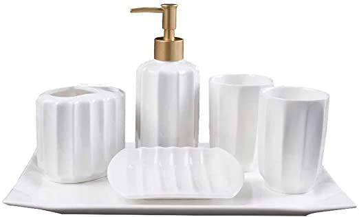 Feiqiangqiang Bathroom Accessories Set European Fashion Personality Home Wave Pattern Bat In 2020 Bathroom Accessories Sets Bathroom Accessories Bathroom Hardware Set