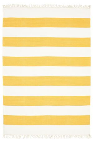 Cotton stripe - Orange Teppich (140x200) für 81 EUR - Leider ausverkauft