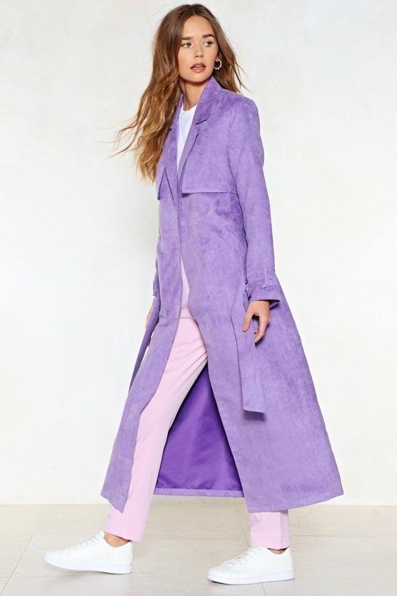 lavender statement coat, latest fashion trend: lavender, chic coat for spring, statement coat for women