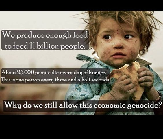 We are NOT over populated!! The only thing over populating this planet is greed!!!