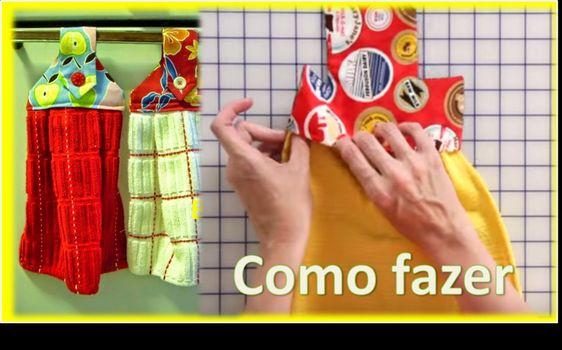 Função Do Aparador Na Sala ~ Fácil de Fazer BATE MÃO com PANO DE PRATO + molde Artesanato Passo  en tela Pinterest