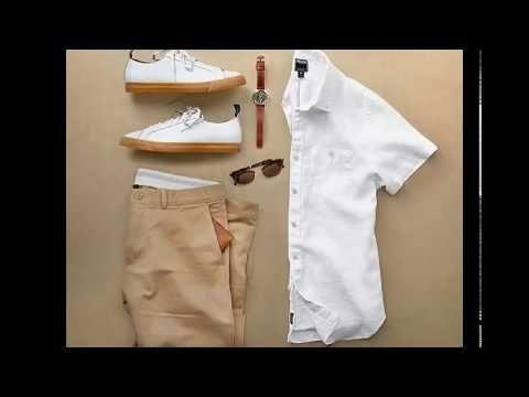 تنسيق القميص الأبيض للرجال Youtube Khaki Pants Pants Fashion
