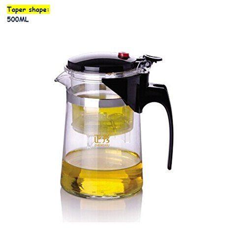 500ml Heat Resistant Glass Tea Pot High Quality Teaset Convenient Office Tea Set Taper Shape You Can Find More Detai Heat Resistant Glass Glass Tea Tea Set