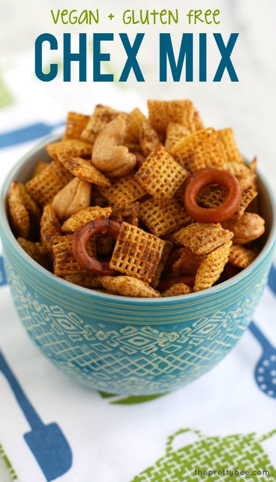 Chex mix vegans and gluten free on pinterest