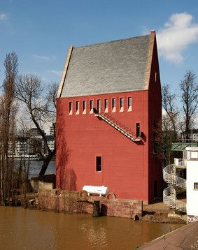 Portikus-Galerie in Frankfurt (von Christoph Mäckler Architekten, Frankfurt)