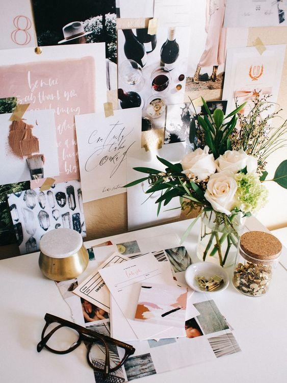 Desk inspiration, ideas and decor | Pretty for teens desks | Home work stations | Desk Organisation | Office Ideas