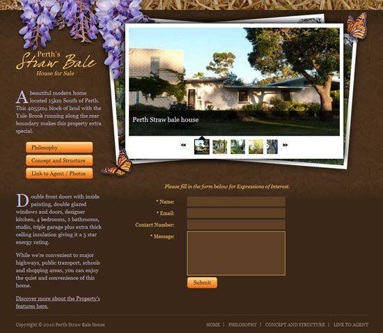 Perth Straw Bale House -  www.perthstrawbalehouse.com        Custom design & Wordpress web development by Webholic