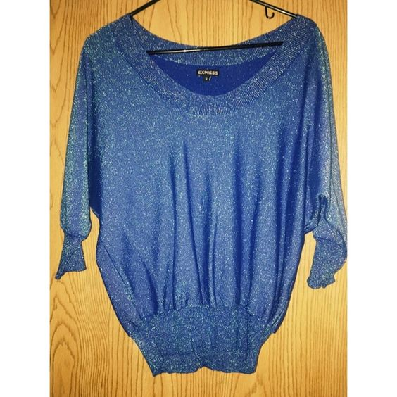 Express blue sparkly sweater | D, Sweaters and Blue