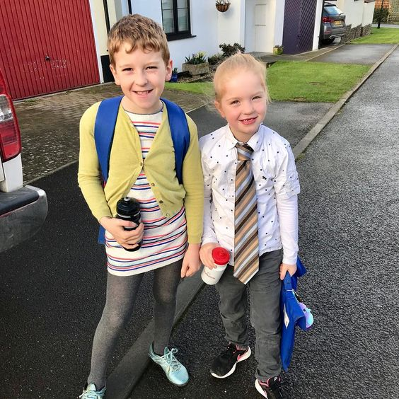 "Jane Woodman on Instagram: ""Easiest #WorldBookDay ever! @dwalliams The Boy In The Dress And Julia Donaldson's The Smartest Giant In Town. They just wore each other's…"""