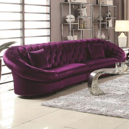 Royal Purple Velvet Sectional Sofa Furniture In Los Angeles Ca