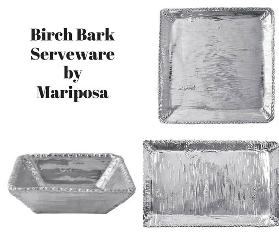 Birch Bark Serveware by Mariposa
