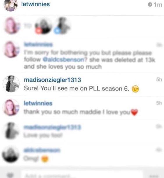 Maddie Ziegler to guest star on Pretty Little Liars in Season 6