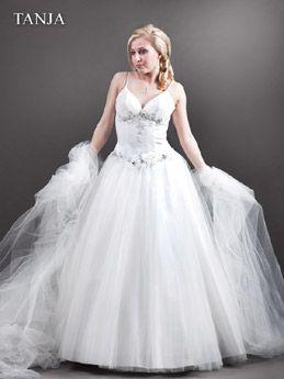 Sissi Hochzeitskleid Große Größe mit Trägern  Mollige Braut ...