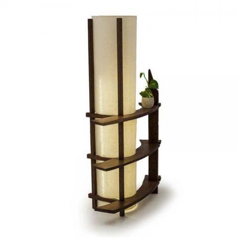 Shop Jauvara Shelf Lamp Circle Online In 2020 Shelf Lamp Wood Shelves Floor Lamp